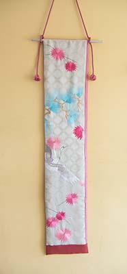 Pink Crane wall hanging